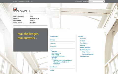 Screenshot of Site Map Page polsinelli.com - Site Map | Polsinelli - captured Dec. 1, 2015