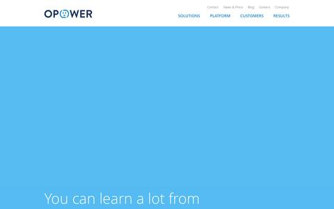 Screenshot of Home Page opower.com - Opower - captured Jan. 15, 2015