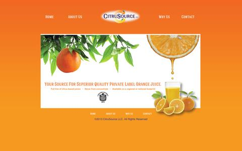 Screenshot of Home Page citrusource.com - Citrusource - captured Oct. 5, 2014