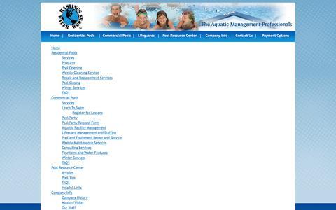 Screenshot of Site Map Page hastingswaterworks.com - Hastings Water Works - Site Map - captured Dec. 7, 2015