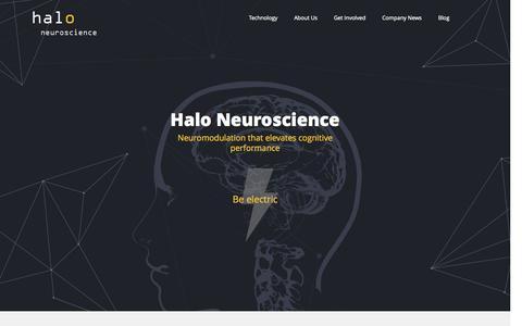 Screenshot of Home Page haloneuro.com - Halo Neuroscience - captured Jan. 14, 2015