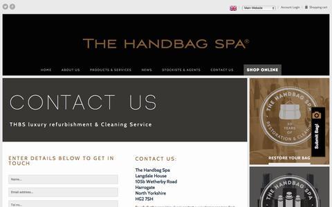 Screenshot of Contact Page thehandbagspa.com - Contact Us | The Handbag Spa - captured Feb. 15, 2016