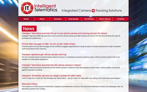 Screenshot of Press Page intelligent-telematics.ie - News - captured Feb. 4, 2016