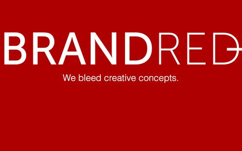 Screenshot of Home Page brandred.net - Brand Red - captured Aug. 3, 2018