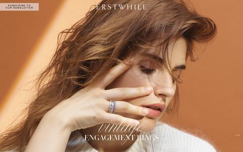 Screenshot of Home Page erstwhilejewelry.com - Engagement Rings | Erstwhile Jewelry | NYC - captured Jan. 12, 2017