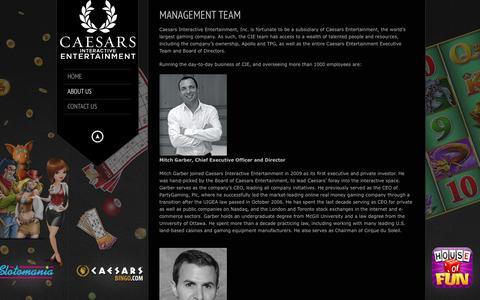 Screenshot of Team Page caesarsinteractive.com - Caesarsinteractive.com |   Management Team - captured Oct. 16, 2016