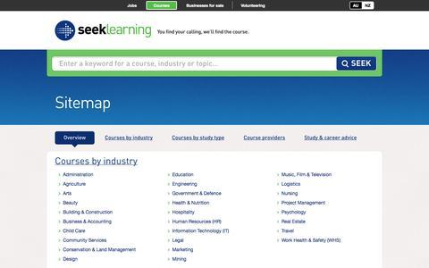 Screenshot of Site Map Page seeklearning.com.au - Sitemap - SEEK Learning Australia - captured Sept. 19, 2014