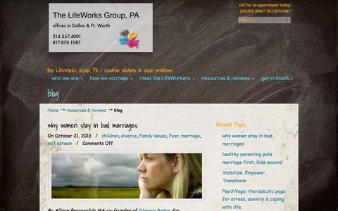 Screenshot of Blog wefixbrains.com - blog « The LifeWorks Group P.A. The LifeWorks Group P.A. - captured Oct. 6, 2014