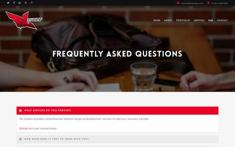 Screenshot of FAQ Page trlstudios.com - FAQ |  TRL Studios - captured Nov. 5, 2014