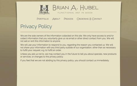Screenshot of Privacy Page brianhubel.com - Privacy Policy | Brian A. Hubel - captured Oct. 27, 2014