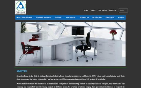 Screenshot of About Page prismgroup.net.in - prism group - captured Oct. 2, 2014