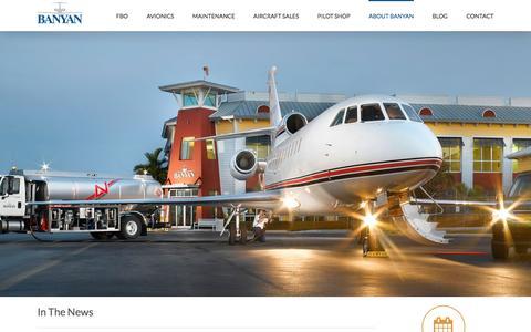 Screenshot of Press Page banyanair.com - News & Events - Banyan Air Service - captured Nov. 22, 2016