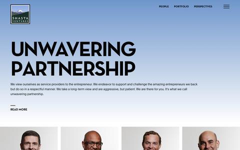 Screenshot of Team Page shastaventures.com - People | Shasta Ventures - captured Jan. 24, 2018