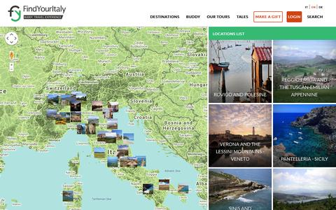 Screenshot of Locations Page findyouritaly.com - Locations | Find Your Italy - captured Sept. 30, 2014