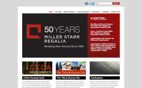 Screenshot of Home Page Site Map Page msrlegal.com - MSR Legal - captured Oct. 7, 2014