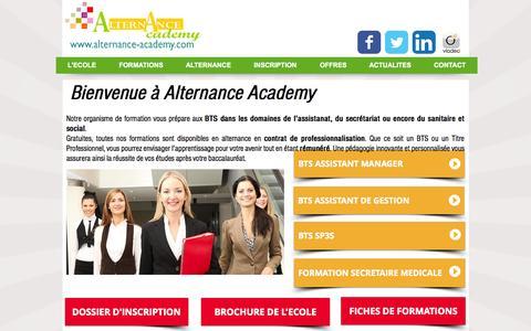 Screenshot of Home Page alternance-academy.com - Alternance Academy - captured Oct. 16, 2015