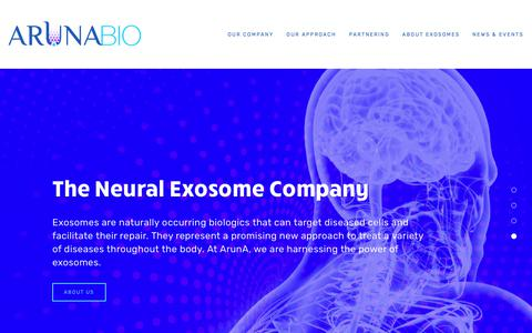 Screenshot of Home Page arunabiomedical.com - ArunA Biomedical - captured Oct. 4, 2018