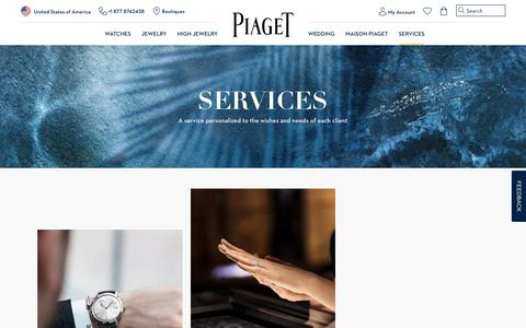 Screenshot of Services Page piaget.com - Customer Service - Piaget Watchmaker and Jeweler - captured July 31, 2018