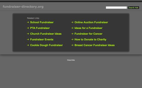 Screenshot of Home Page fundraiser-directory.org - Fundraiser-Directory.org - captured Oct. 8, 2014