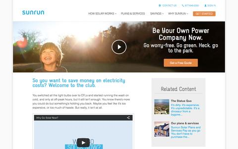Screenshot of sunrun.com - Why You Should Go Solar   Residential Solar Power   Sunrun - captured March 19, 2016