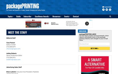 Screenshot of Contact Page packageprinting.com - Meet the Staff - Package Printing - captured Sept. 23, 2018
