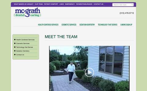 Screenshot of Team Page mcgrathdental.com - Meet The Team | McGrath Dental Caring | Syracuse NY |Dentist |Sedation| Cosmetic | Holistic - captured June 20, 2016