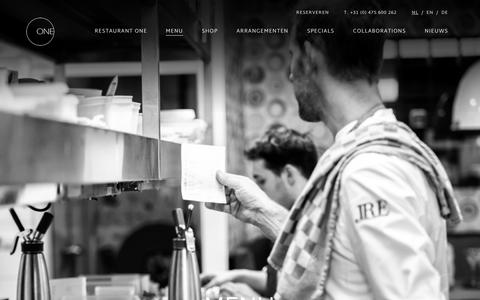 Screenshot of Menu Page restaurantone.nl - Menu | ONE - captured June 17, 2017