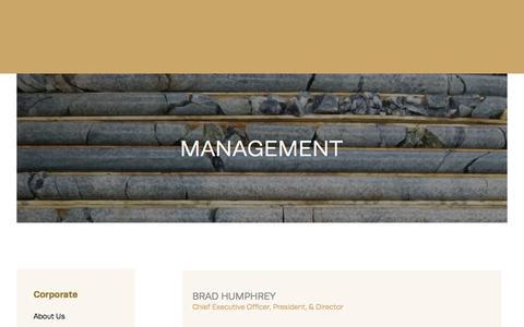 Screenshot of Team Page qmxgold.ca - QMX Gold - Management - captured Sept. 26, 2018