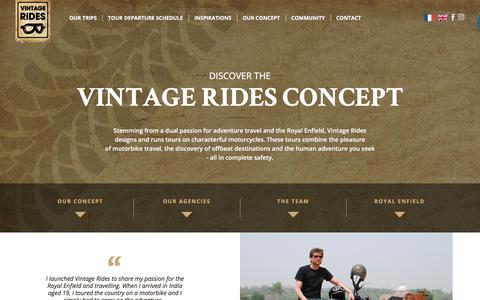 Screenshot of Team Page vintagerides.travel - Concept - Vintage Rides - captured Sept. 20, 2018