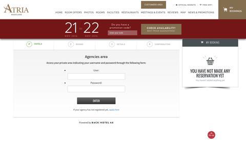 Screenshot of Login Page atriahotelmagelang.com - Access to agencies' private area Parador Hotels & Resorts - captured Nov. 21, 2016