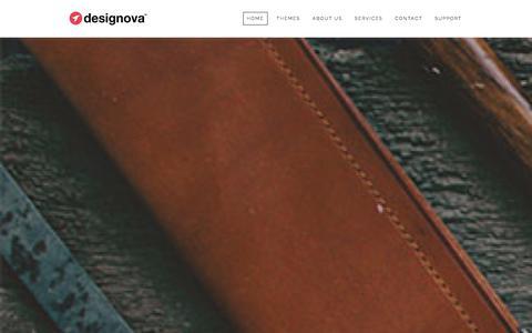 Screenshot of Home Page designova.net - Designova | Premium Web Design and Theme Development Studio - captured Sept. 18, 2014