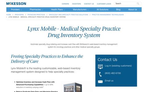 Lynx Mobile - Oncology Drug Inventory Management | McKesson