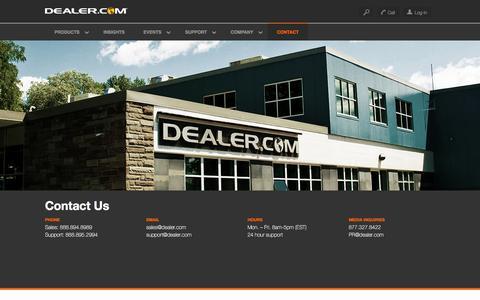 Screenshot of Contact Page dealer.com - Contact Us - Dealer.com - captured Dec. 4, 2015