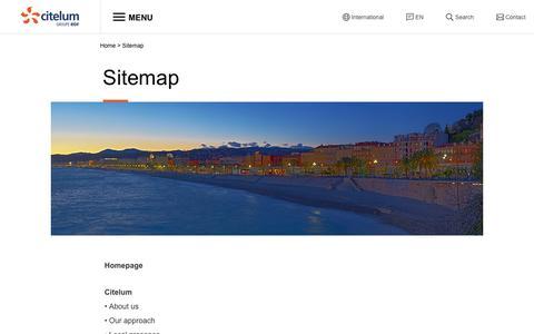 Screenshot of Site Map Page citelum.com - Sitemap - Citelum - captured Nov. 6, 2016