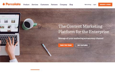 Percolate | Complete Content Marketing Software for Global Brands