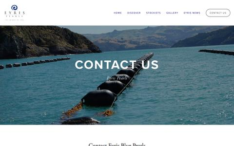 Screenshot of Contact Page bluepearls.com - Contact us — Blue Pearls - captured Dec. 1, 2016