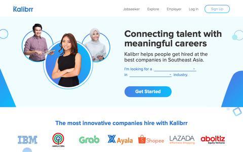 Screenshot of Home Page kalibrr.com - Kalibrr: Where Jobs Find You - captured March 21, 2019