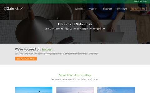 Careers at Satmetrix