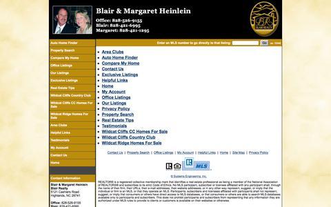 Screenshot of Site Map Page blair-realty.com - Blair & Margaret Heinlein - Blair Realty - captured Aug. 2, 2018