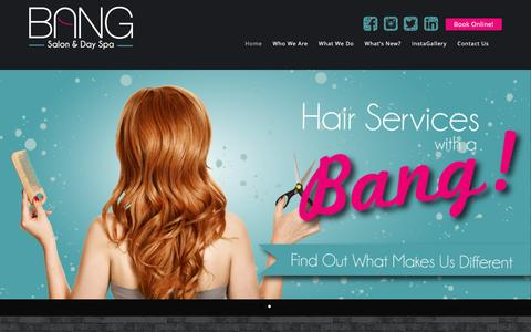 Screenshot of Home Page bangdayspa.com - Bang Salon and Day Spa - Cedar Park, TX - captured Feb. 7, 2016