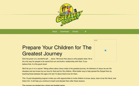 Screenshot of About Page billygraham.org - About - The Greatest Journey - captured Oct. 24, 2018