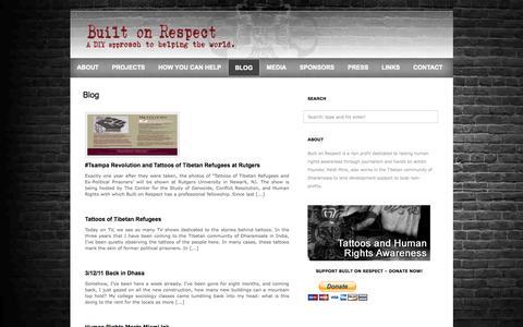 Screenshot of Blog builtonrespect.com - Built On Respect  » Blog - captured Sept. 30, 2014