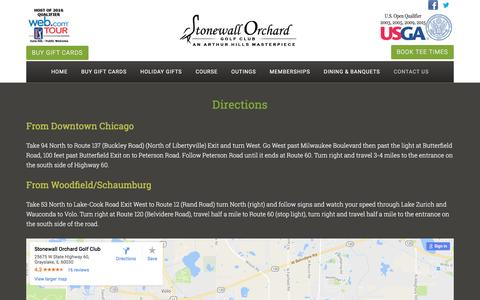 Screenshot of Maps & Directions Page stonewallorchard.com - Directions - captured Dec. 15, 2016