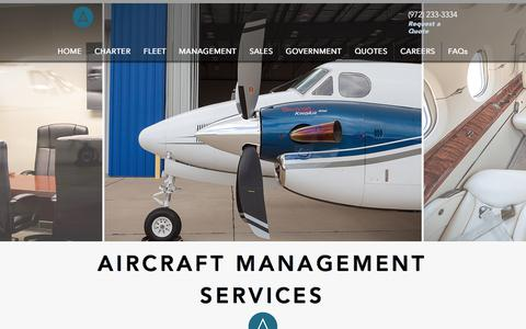Screenshot of Team Page flynda.com - North Dallas Aviation- Private Jet Management - captured Oct. 20, 2017