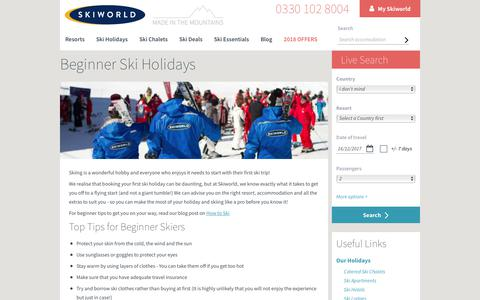 Beginner Ski Holidays | learn to ski with Skiworld