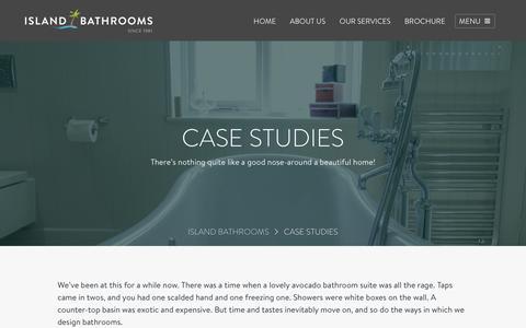Screenshot of Case Studies Page islandbathrooms.co.uk - Bathroom & Kitchen Customer Case Studies – Real Homes | Island Bathrooms - captured Sept. 19, 2018