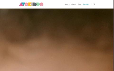 Screenshot of Contact Page avokiddo.com - contact |  Avokiddo | Fun educational apps for kids - captured Oct. 29, 2014