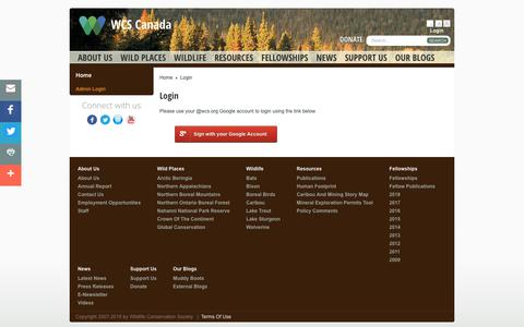 Screenshot of Login Page wcs.org - Login - captured June 29, 2018