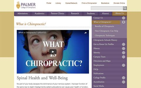 What is Chiropractic? - Palmer College of Chiropractic