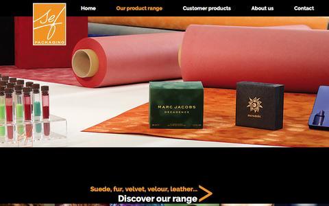 Screenshot of About Page sef-france.com - Our product range - captured Nov. 17, 2016